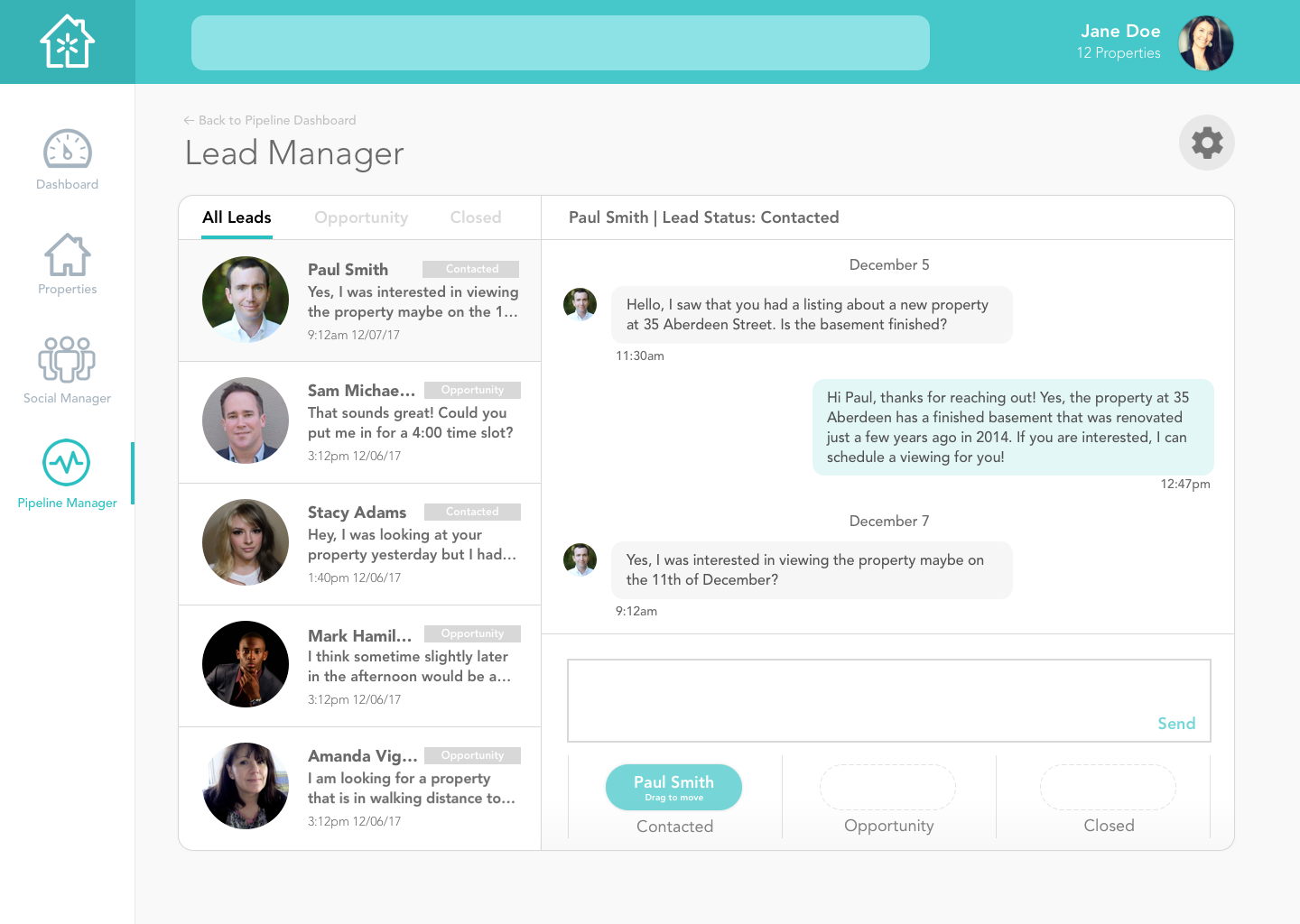 Lead Message Manager