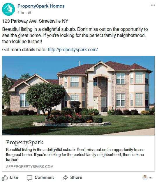 Single Picture Real Estate Facebook Post 2