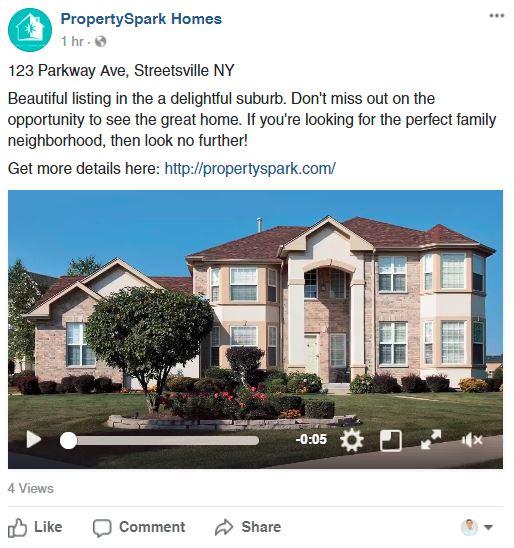 Video Real Estate Facebook Post 2